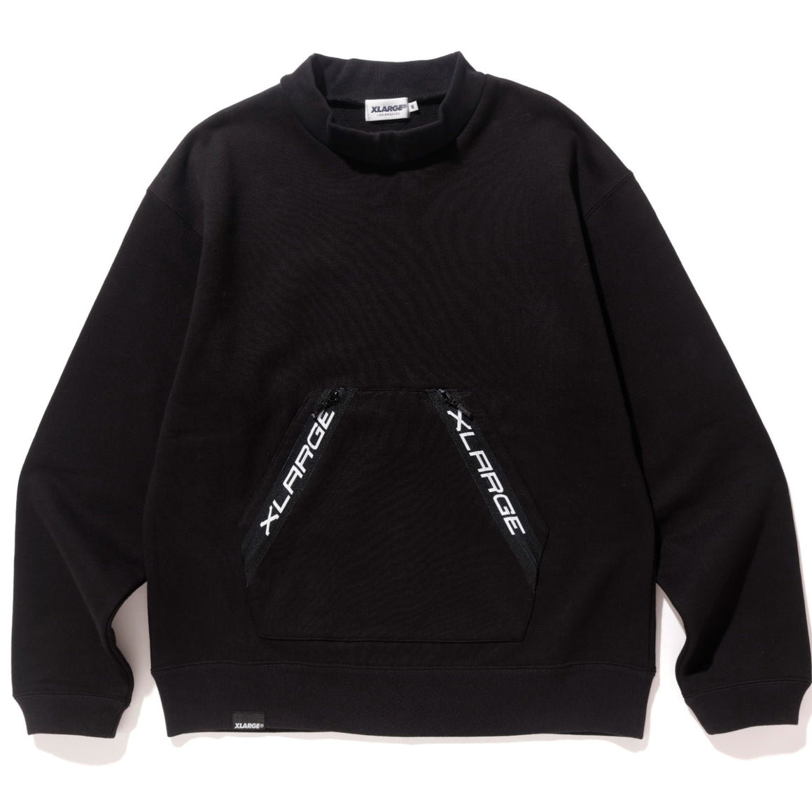 ZIPPED POCKET PULLOVER MOCKNECK SWEAT