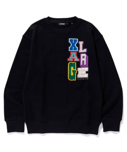 MULTICOLOR COLLEGE LOGO CREWNECK SWEAT FLEECE, CREWNECK, HOODIE XLARGE