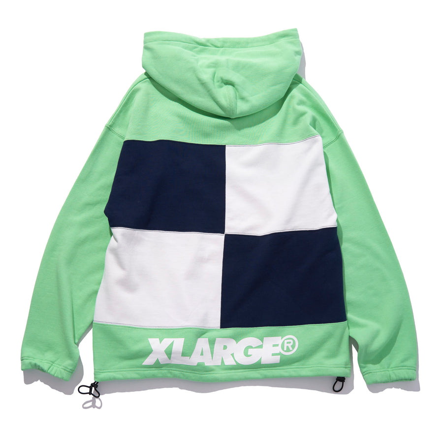 COLORBLOCK HOODED SWEAT FLEECE, CREWNECK, HOODIE XLARGE