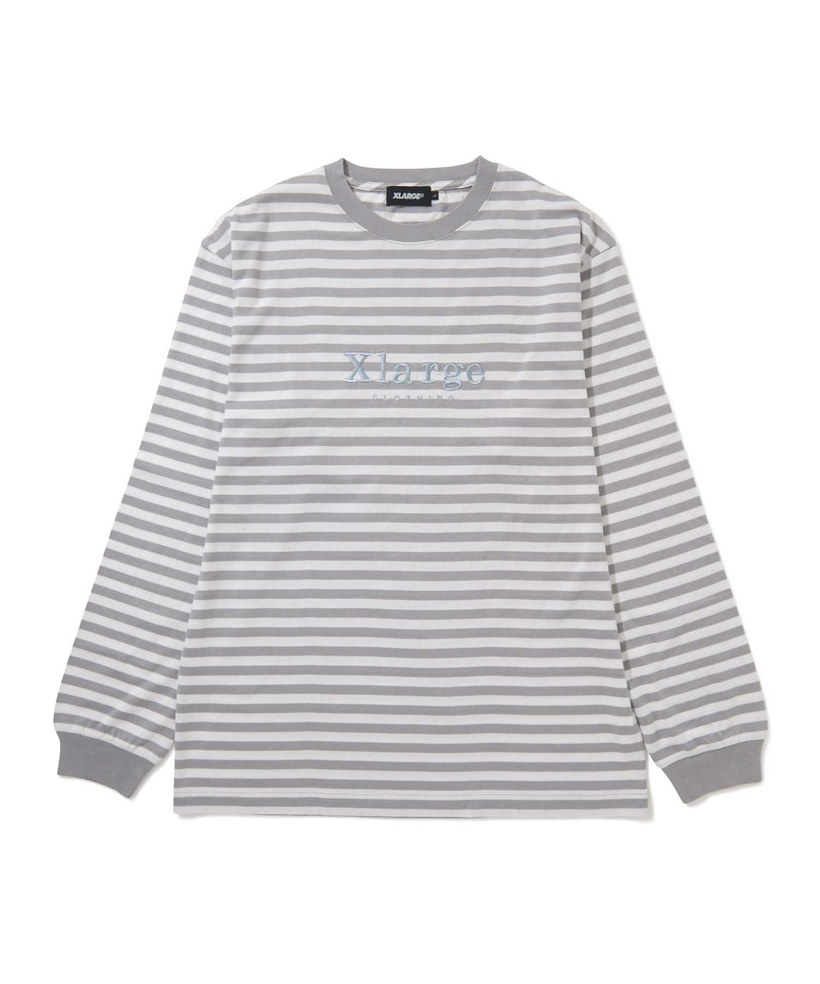 L/S EMBROIDERY BORDER TEE