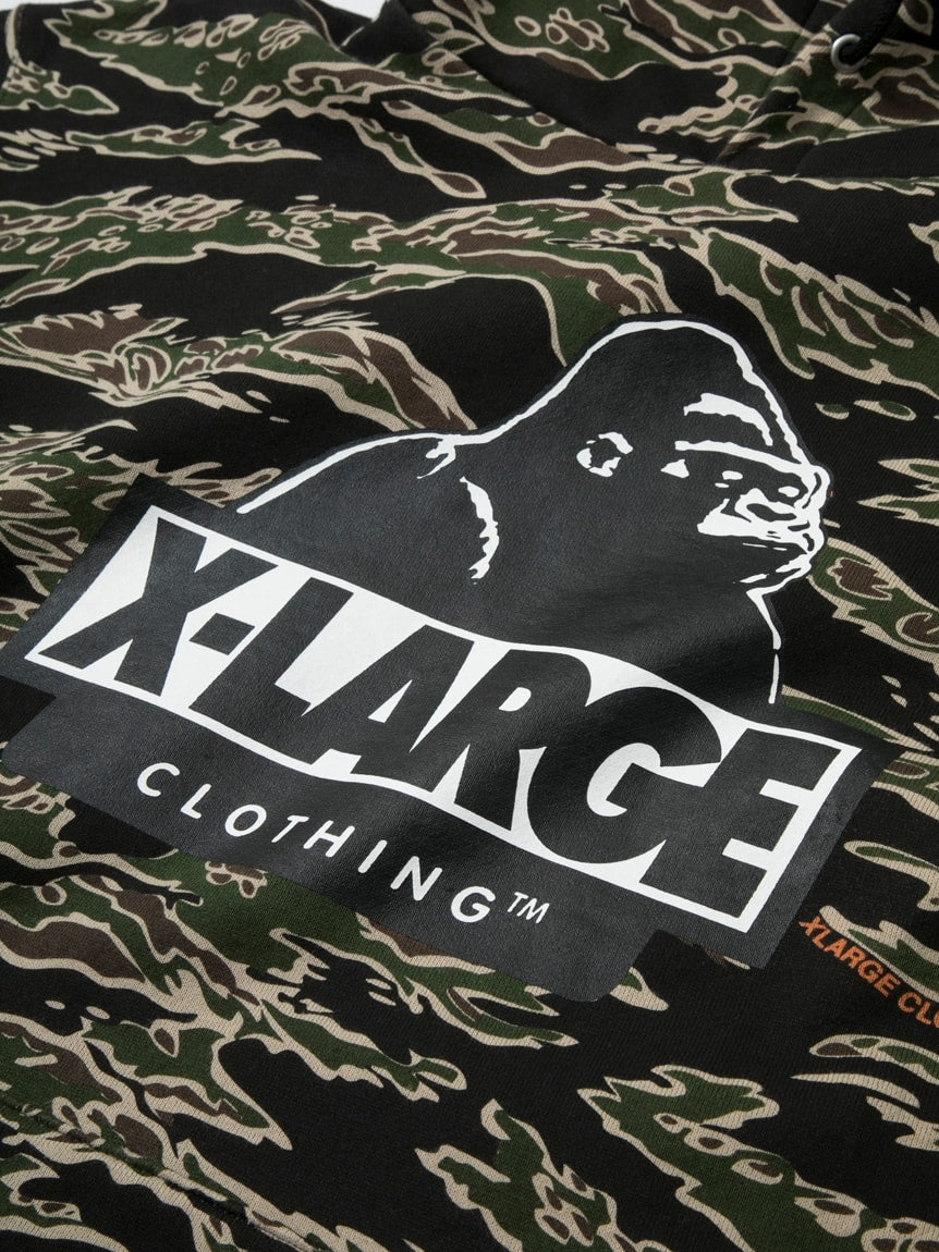 TIGER CAMO PULLOVER HOODIE - X-Large Clothing