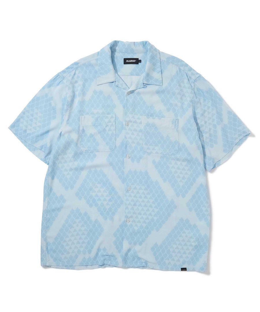 S/S REPTILE ALLOVER PRINTED SHIRT