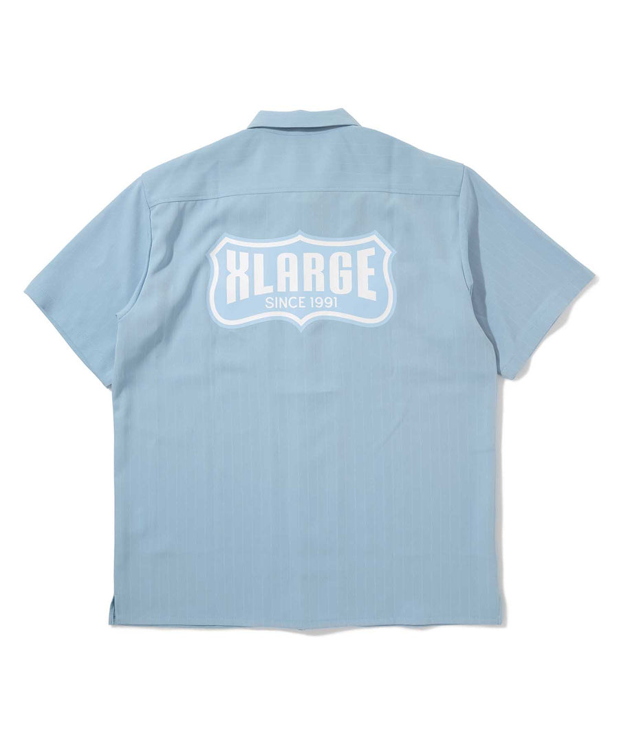 S/S STRIPE WORK SHIRT SHIRT XLARGE