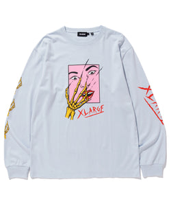 L/S TEE SCARED FACE T-SHIRT XLARGE