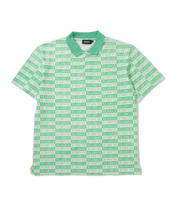 S/S ALLOVER PRINTED POLO SHIRT KNITS XLARGE