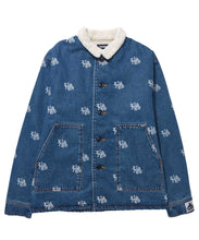 Load image into Gallery viewer, LOGO DENIM BOA JACKET