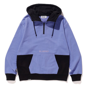 2TONE HALFZIP PULLOVER HOODED SWEAT