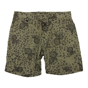 FLORAL LEOPARD SHORT - X-Large Clothing