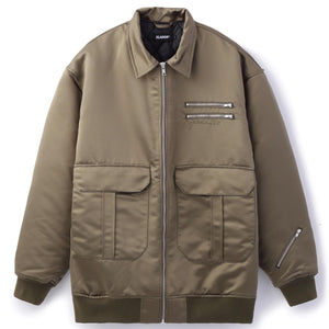ZIPPED AVIATOR JACKET OUTERWEAR XLARGE