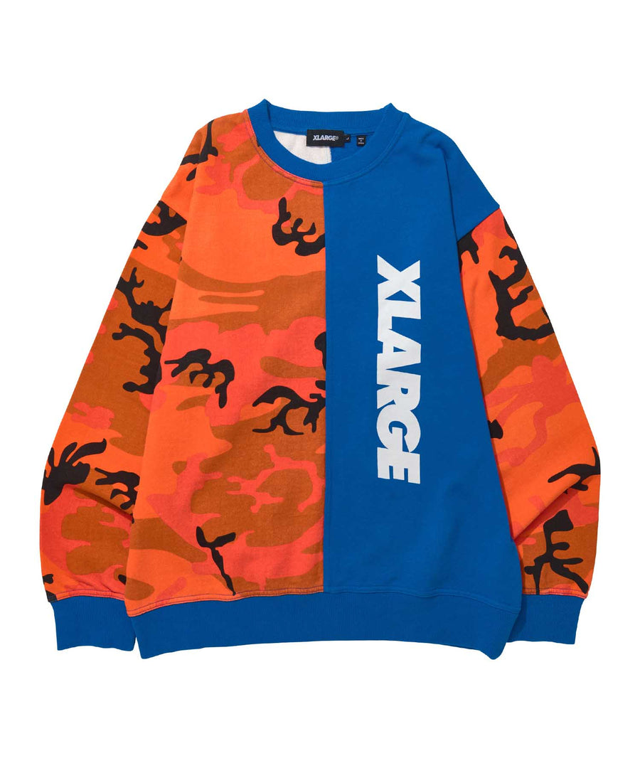 CAMO CREWNECK SWEAT FLEECE, CREWNECK, HOODIE XLARGE