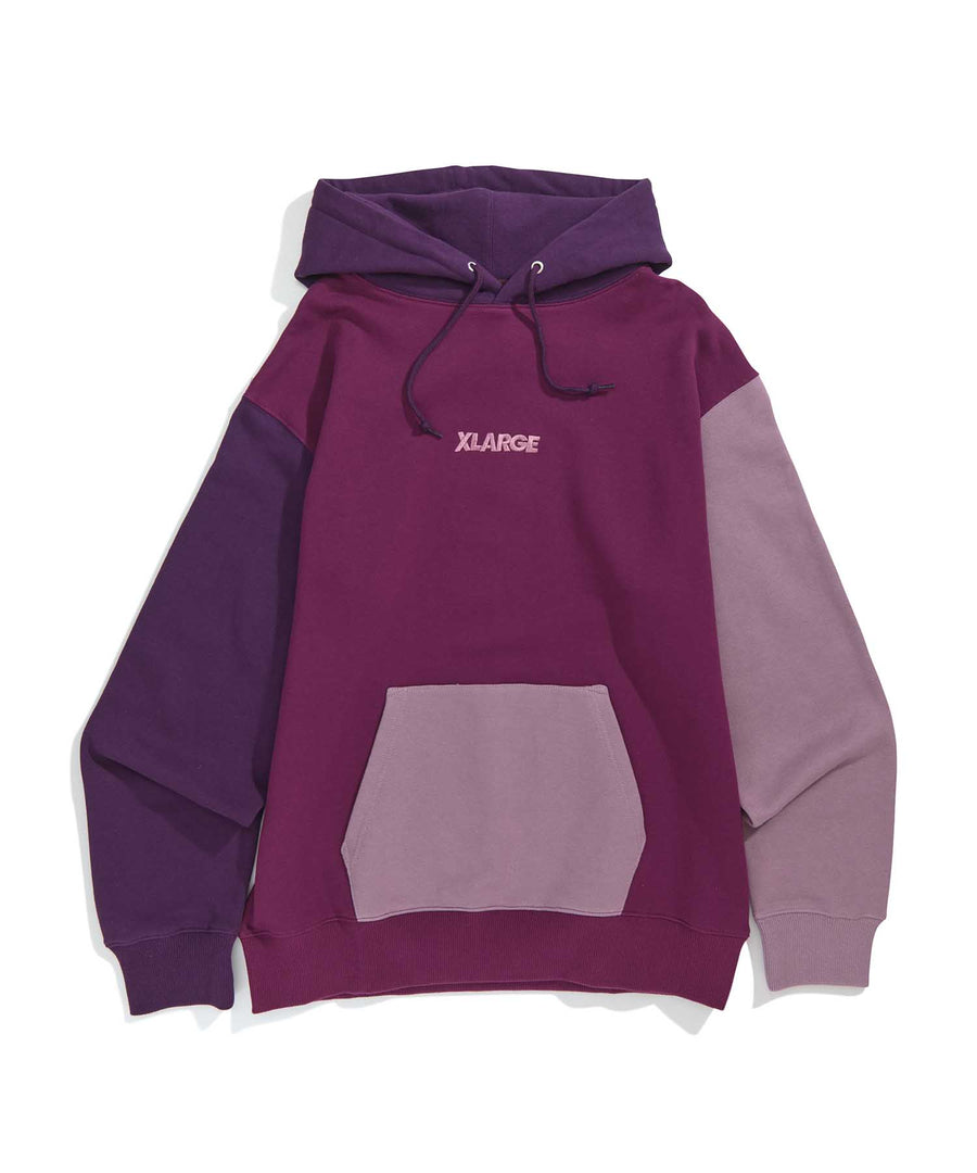 COLOR BLOCK PULLOVER HOODED SWEAT 2 FLEECE, CREWNECK, HOODIE XLARGE