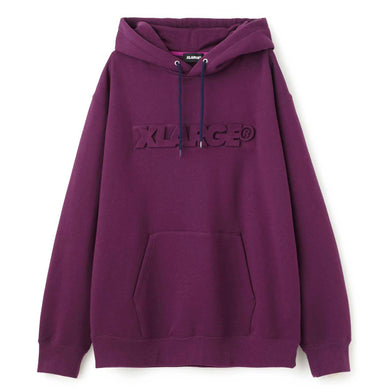 EMBOSSING STANDARD LOGO PULLOVER HOODED SWEAT FLEECE, CREWNECK, HOODIE XLARGE