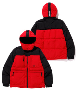 HOODED FRONT POCKET DOWN JACKET