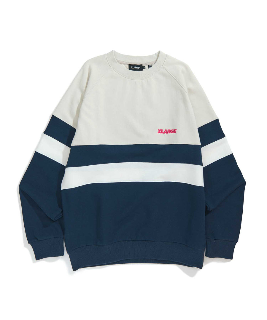 PANELED CREWNECK SWEAT FLEECE, CREWNECK, HOODIE XLARGE