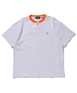 S/S HEAVYWEIGHT HENLEY NECK TEE T-SHIRT XLARGE