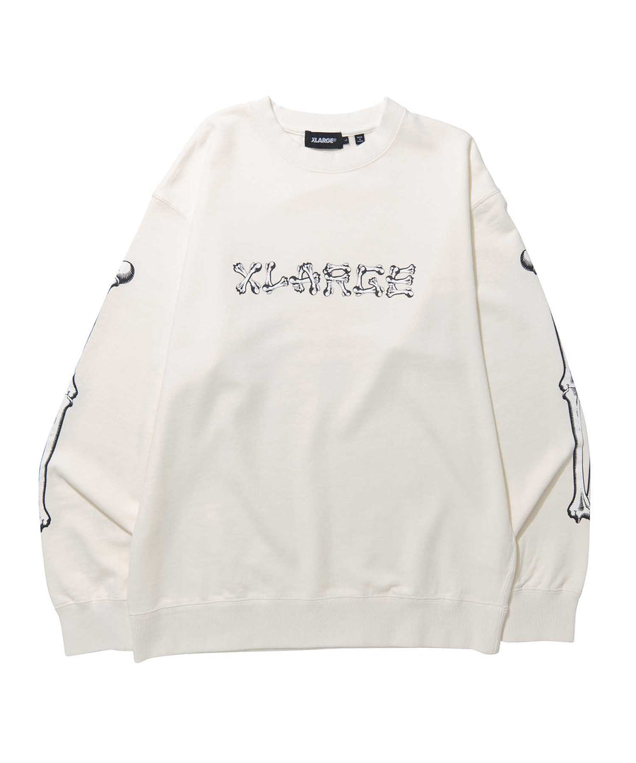 BONE LOGO CREWNECK SWEAT FLEECE, CREWNECK, HOODIE XLARGE