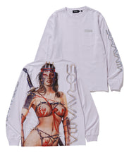 Load image into Gallery viewer, SORAYAMA L/S LADY NINJA POCKET TEE T-SHIRT XLARGE