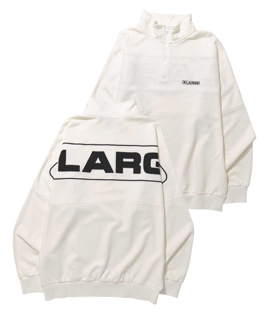 BIG LOGO HALF ZIP SWEAT FLEECE, CREWNECK, HOODIE XLARGE