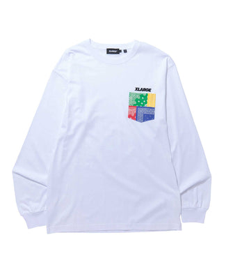 L/S PAISLEY POCKET TEE