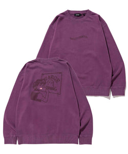 SMOOTH PAINTER PIGMENT CREWNECK SWEAT FLEECE, CREWNECK, HOODIE XLARGE
