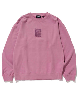 EMBROIDERY SQUARE OG PIGMENT CREWNECK SWEAT FLEECE, CREWNECK, HOODIE XLARGE