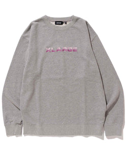 EMBROIDERY GRADATION LOGO CREWNECK SWEAT FLEECE, CREWNECK, HOODIE XLARGE