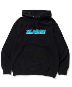 OVER EDGE STANDARD LOGO PULLOVER HOODED SWEAT FLEECE, CREWNECK, HOODIE XLARGE