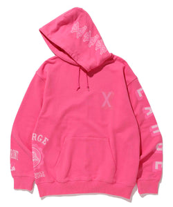 RANDOM PRINT COLLEGE LOGO PULLOVER HOODED SWEAT FLEECE, CREWNECK, HOODIE XLARGE