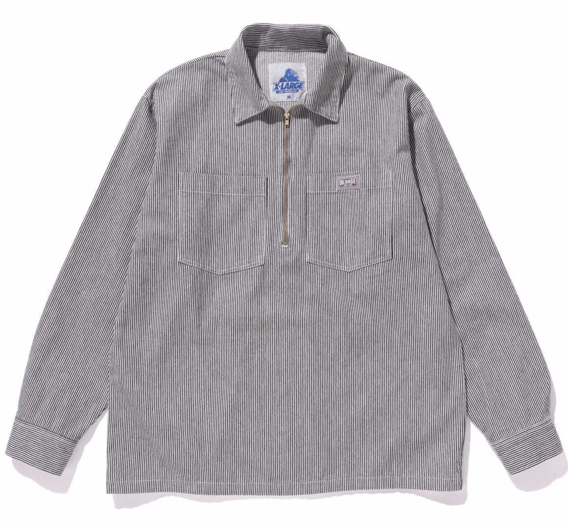 HALF ZIPPED LS WORKSHIRT - X-Large Clothing