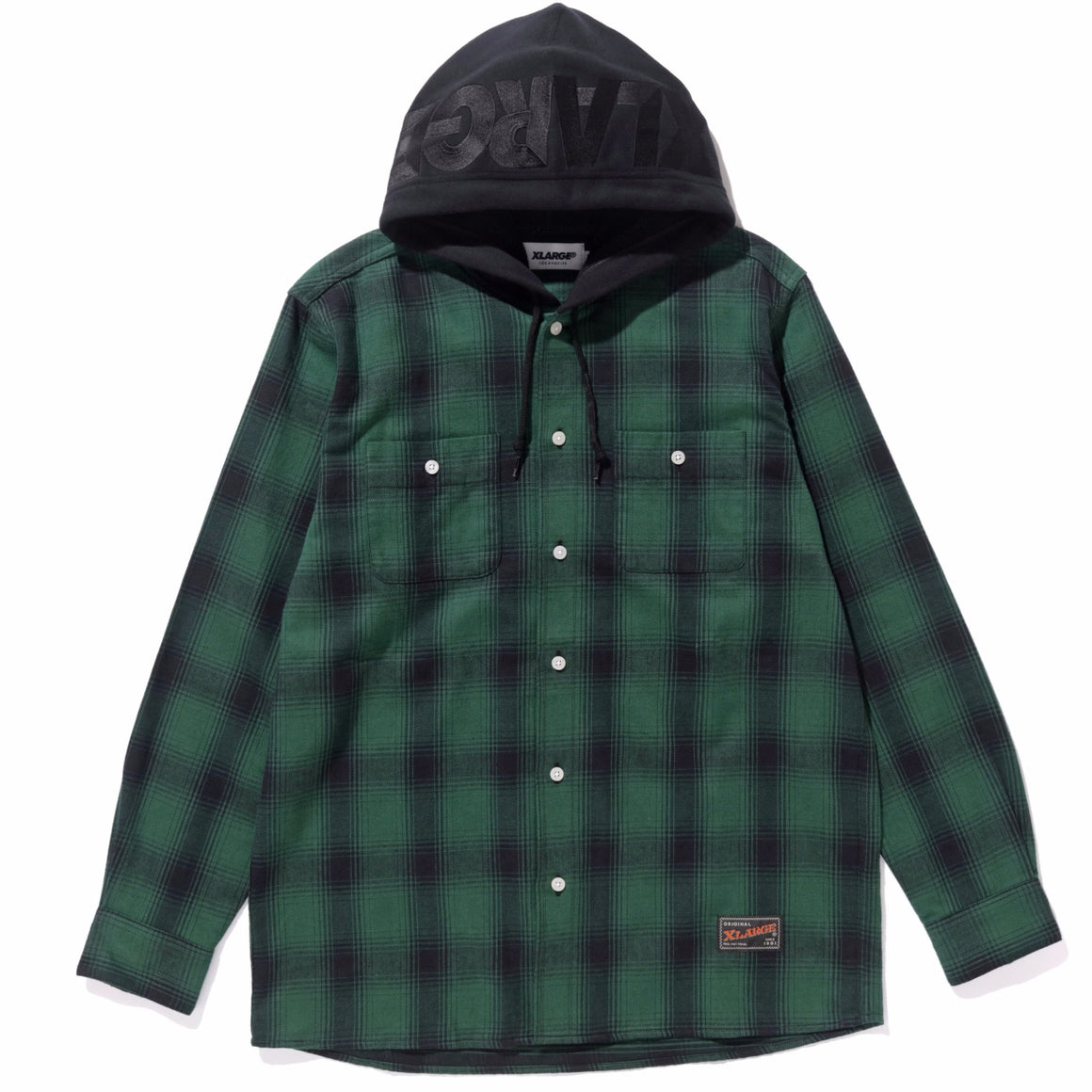 HOODED FLANNEL SHIRT - X-Large Clothing