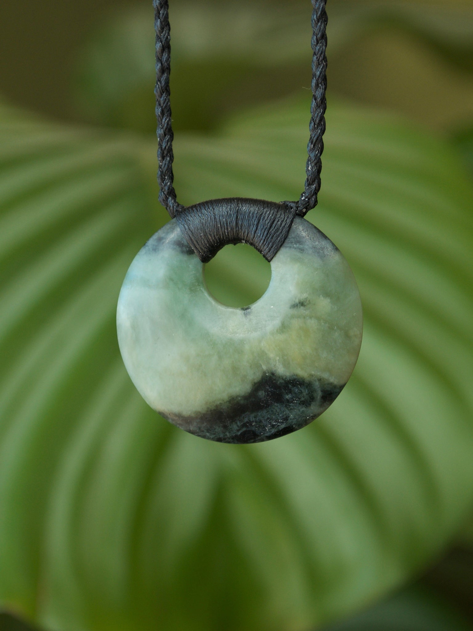 Porohita/Circle of Life Small Inanga Pounamu New Zealand Greenstone Pendant