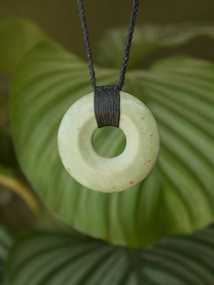 Porohita/Circle of Life Medium Kokopu Pounamu New Zealand Greenstone Pendant
