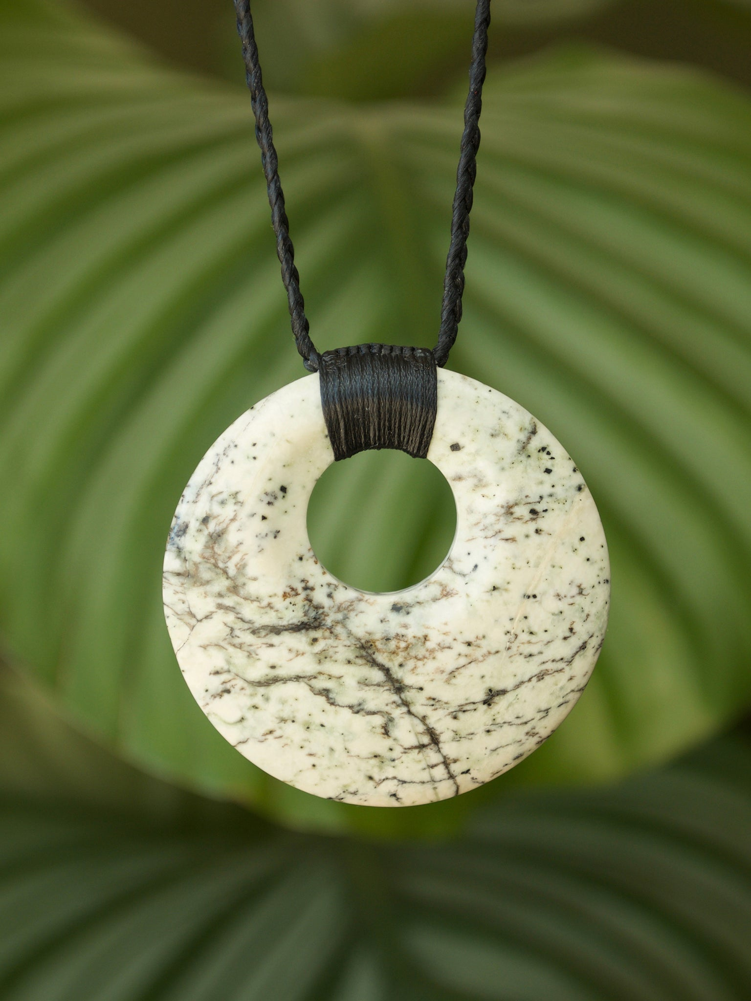 Porohita/Circle of Life Medium Kahurangi Pounamu New Zealand Greenstone Pendant