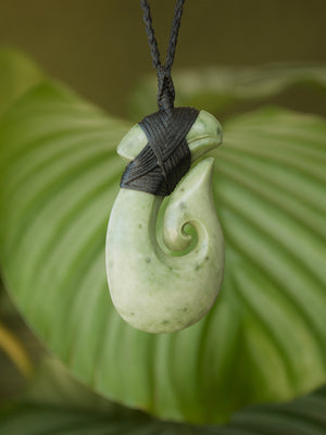 Hei Matau Medium Kokopu Pounamu New Zealand Greenstone  Pendant