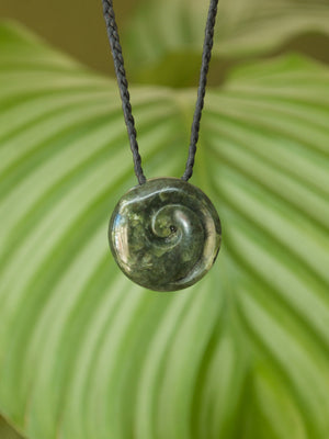 Koru Small Kawakawa Pounamu New Zealand Greenstone Pendant