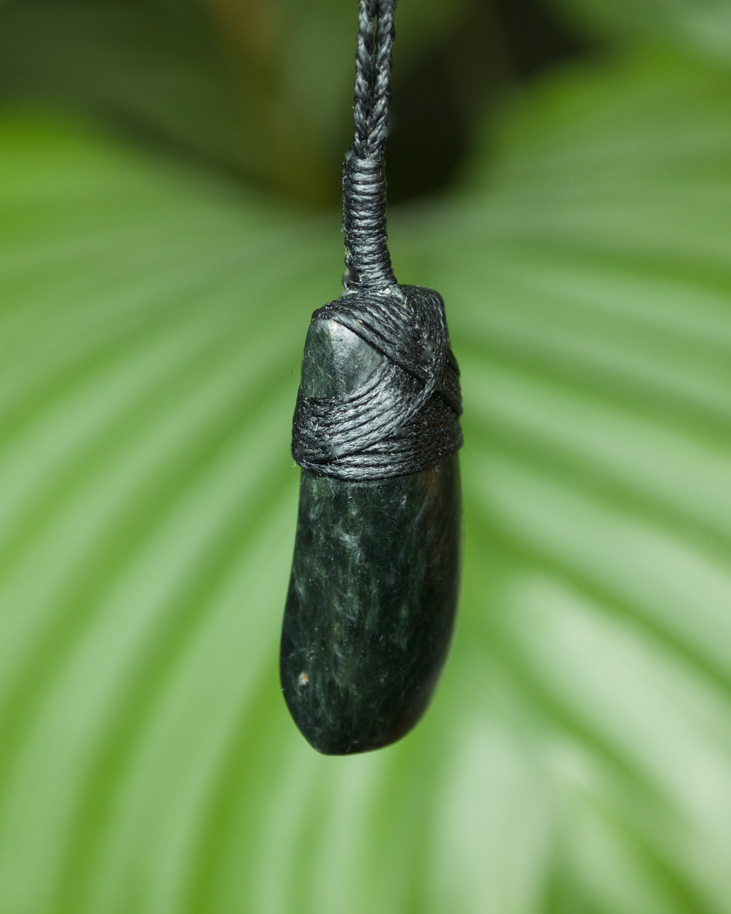 Small Hei Toki Blade Dark Pounamu New Zealand Greenstone Pendant