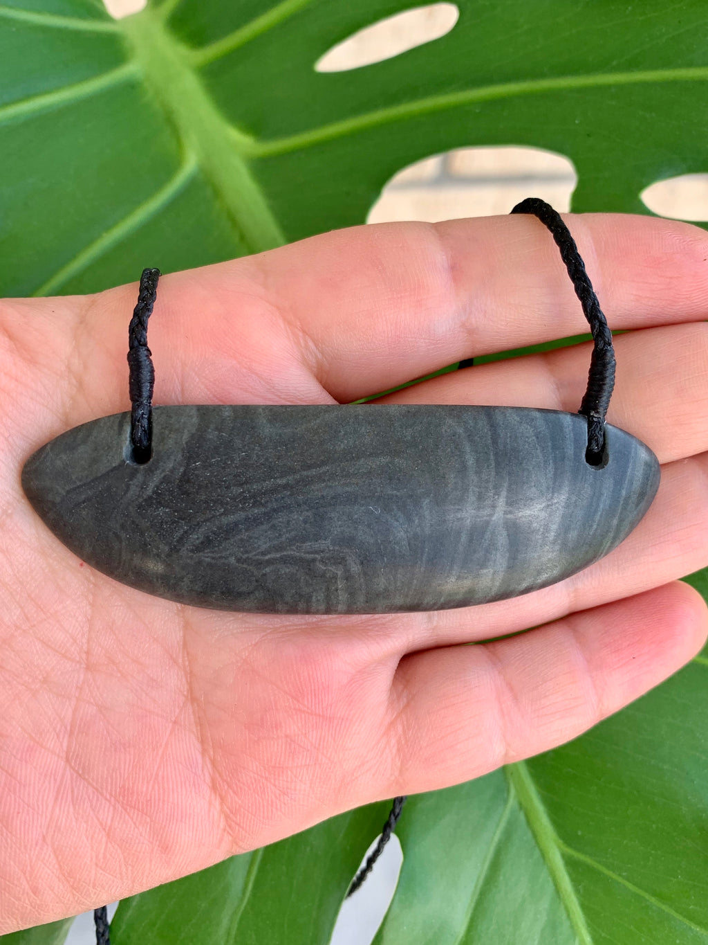 Breastplate Small Greywacke Pounamu New Zealand Greenstone Pendant