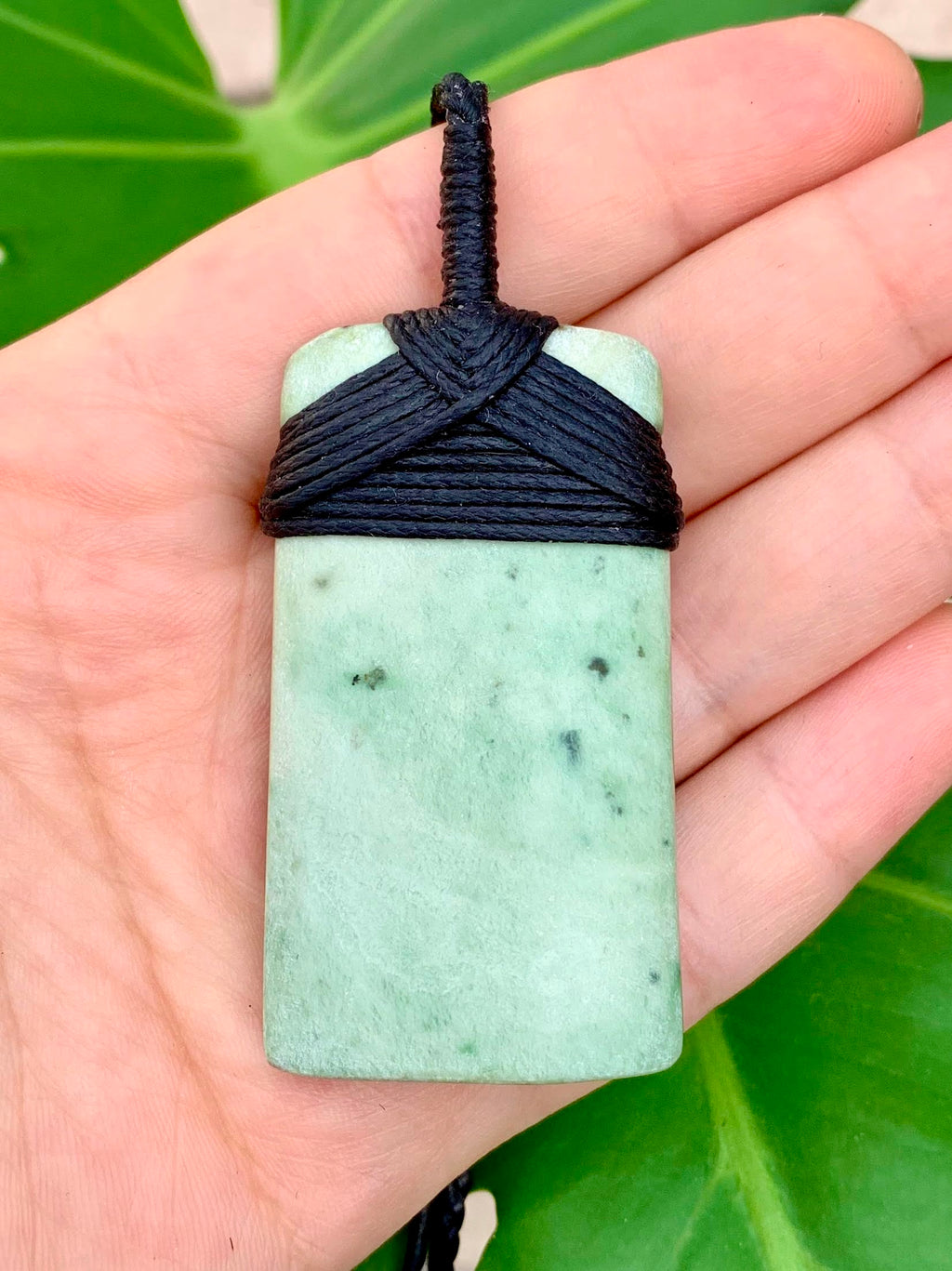 Wide Hei Toki Blade Medium Size Kokopu Pounamu Pendant with Raw Surface