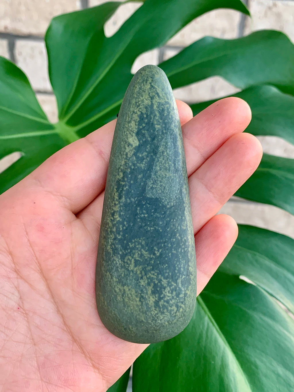 Roimata Large Serpentine Pounamu New Zealand Greenstone Pendant