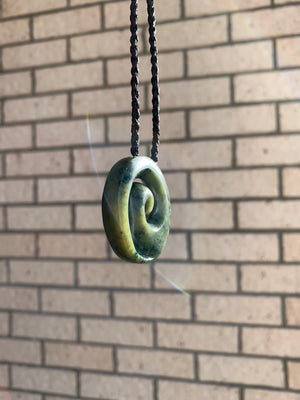 Koru Medium Kahotea Pounamu New Zealand Greenstone Pendant