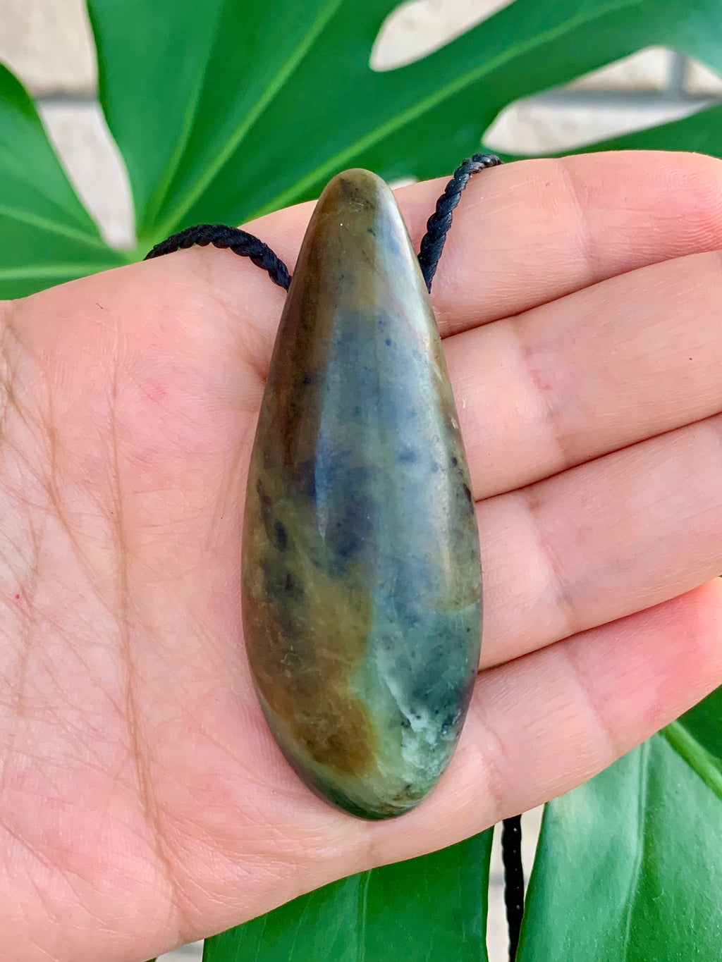 Roimata Medium Totoweka Pounamu New Zealand Greenstone Pendant