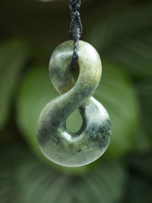 Pikorua/Twist Medium Kahurangi Pounamu New Zealand Greenstone Pendant