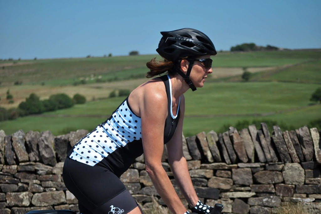 summer cycling jersey, sleeveless, cool, feminine, racerback jersey, pure velo