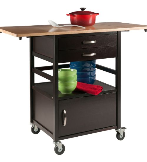 Bellini Kitchen Cart Coffee Natural - Winsome - Kitchen Furniture Company