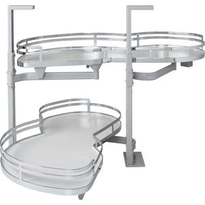 "21"" Blind Corner Swing Out, Left Handed Unit BCSO221PCWH-LH - Kitchen Island Company"