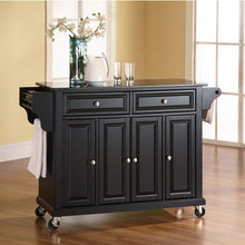 Load image into Gallery viewer, Crosley Furniture Rolling Kitchen Island with Solid Black Granite Top KF30004 - Kitchen Furniture Company