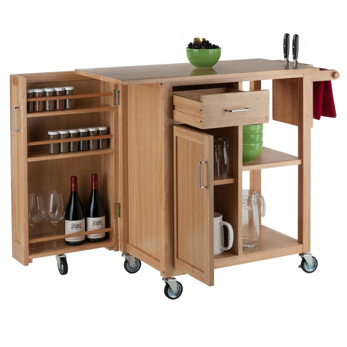 Douglas Kitchen Cart in Natural by Winsome Wood 89443 - Kitchen Furniture Company