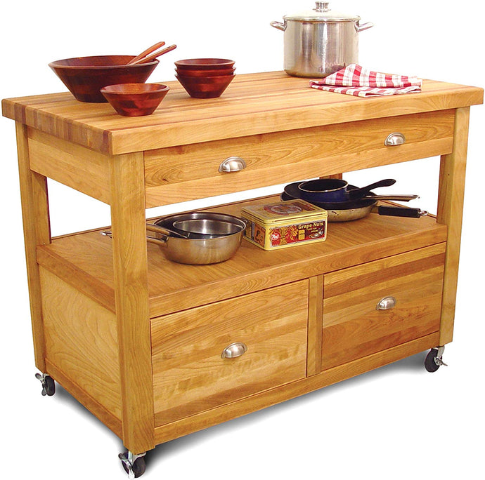 Kitchen Workstation Open Storage Butcher Block by Catskill 1426 - Kitchen Furniture Company