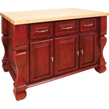 "Load image into Gallery viewer, Jeffrey Alexander 54"" Kitchen Island with Hard Maple Edge Grain Butcher Block Top - Kitchen Island Company"