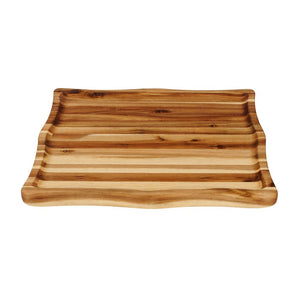 Acacia Hardwood Concave Cutting Board w/ Raised Walls Non Skid Feet 7995 - Kitchen Furniture Company